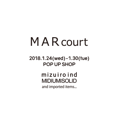 MARcourt POP UP SHOP AT OSAKA TAKASHIMAYA イメージ