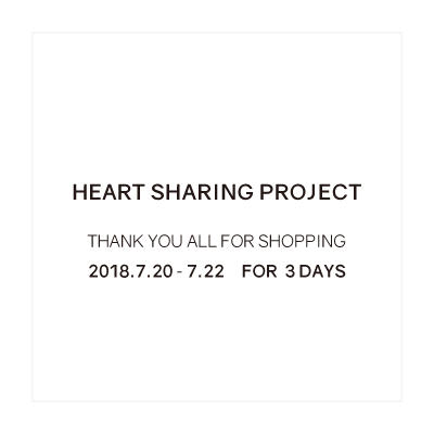 HEART SHARING PROJECT – THANK YOU ALL FOR SHOPPING イメージ