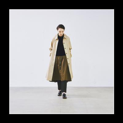 大人の女性はこう着こなす。「ワンピース×○○」でつくる、秋のレイヤードスタイル – キナリノ掲載 イメージ