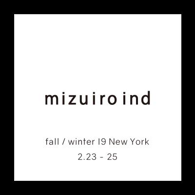 mizuiro ind fall / winter 19 New York イメージ