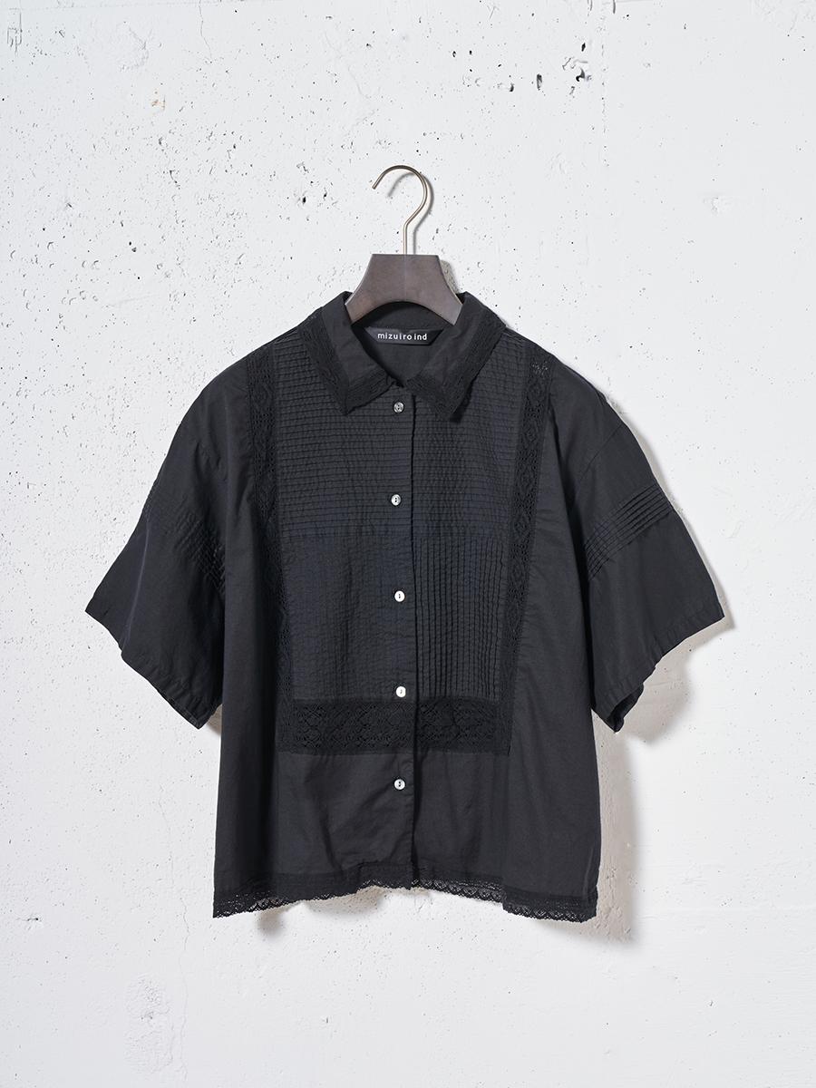 レースパターンシャツ