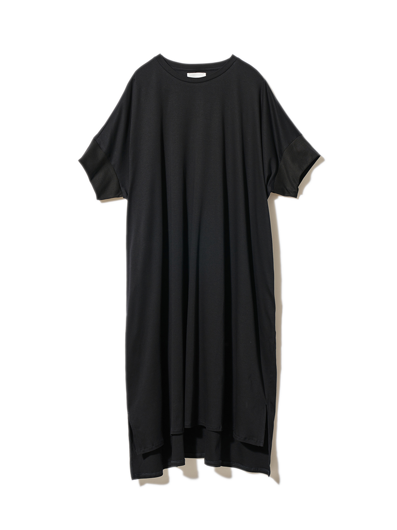 リブスリーブワイドTシャツ ブラック