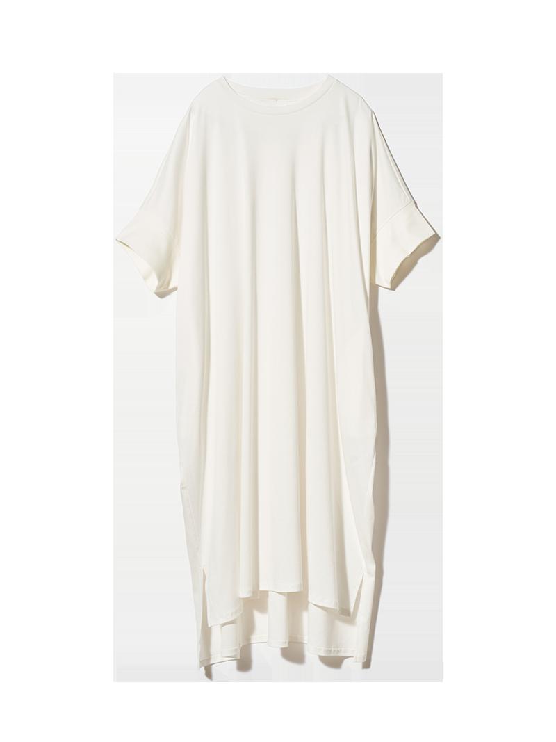 リブスリーブワイドTシャツ オフホワイト