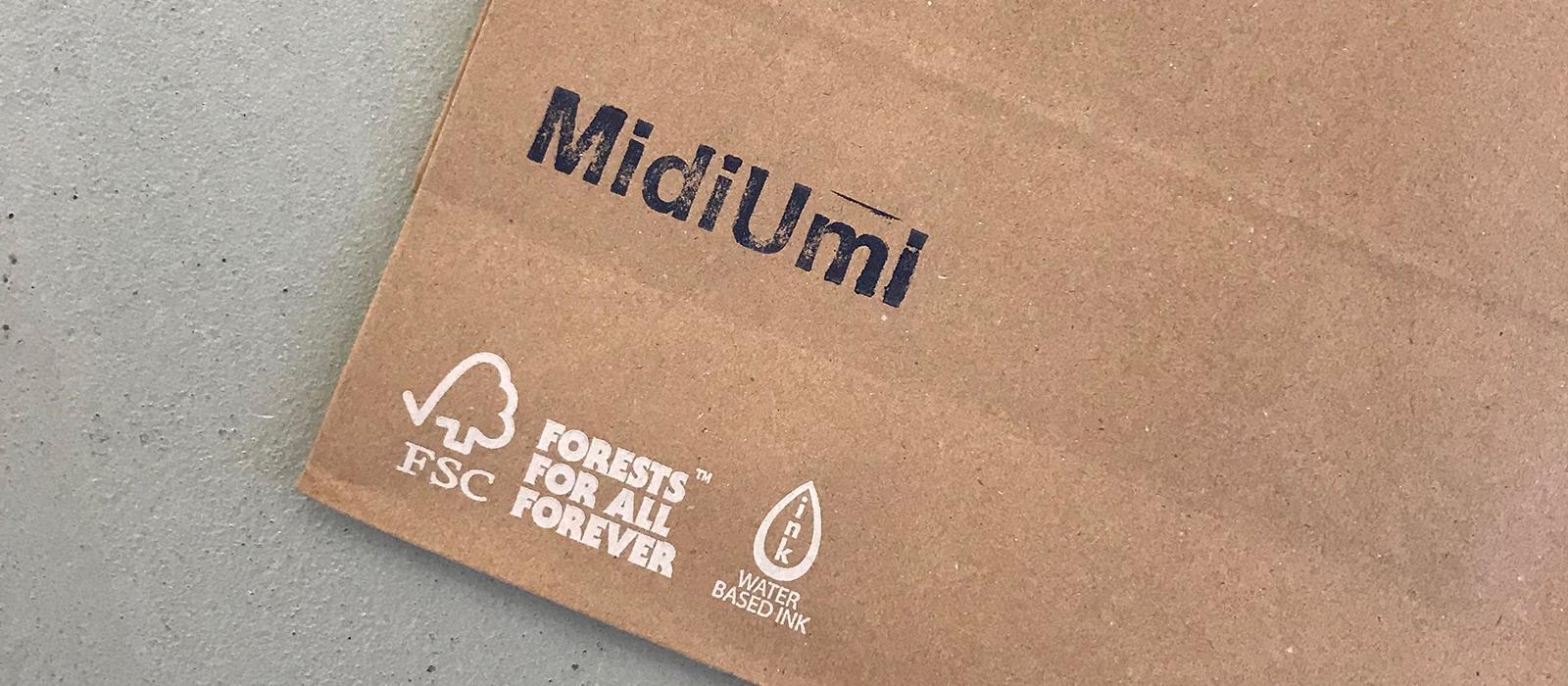 FSC認証の再生紙100%使用した外袋